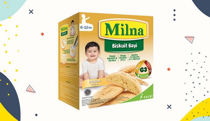Cemilan Bayi Milna Biskuit Bayi