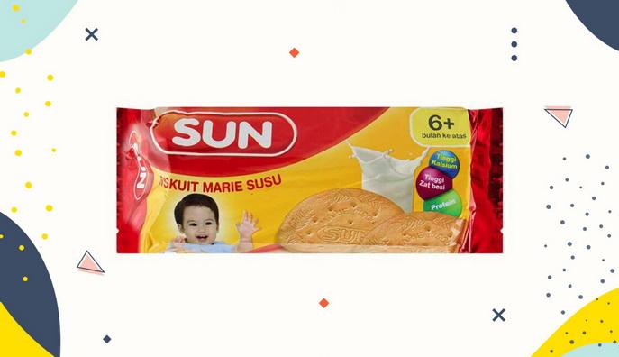 Cemilan Bayi Sun Biskuit Marie Susu