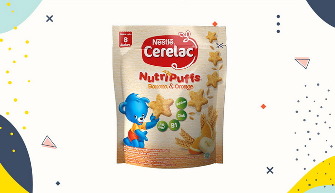Cemilan Bayi Cerelac NutriPufs