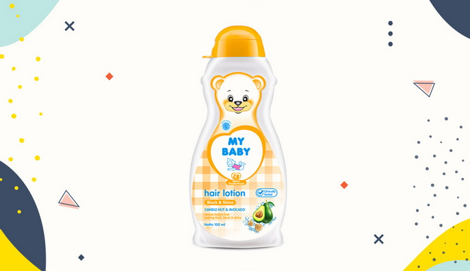 Hair lotion untuk bayi My Baby Hair Lotion Black and Shine