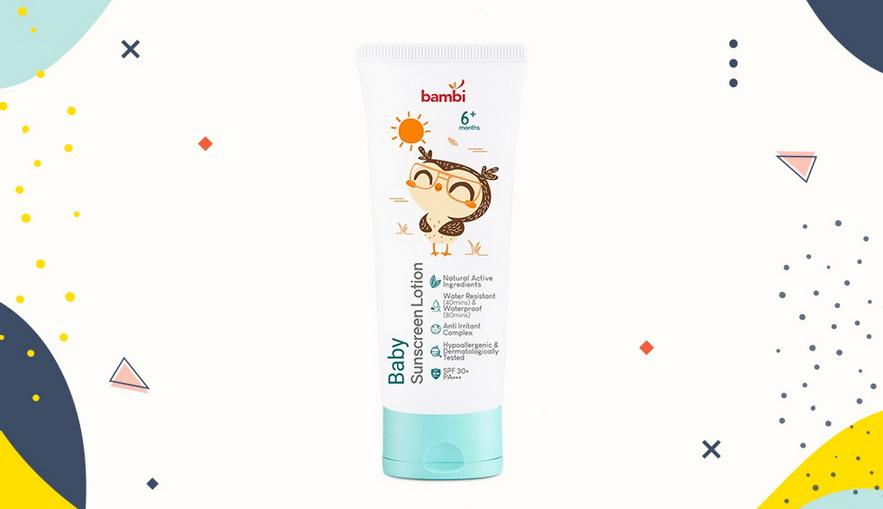 Sunblock untuk anak Bambi Baby Sunscreen Lotion