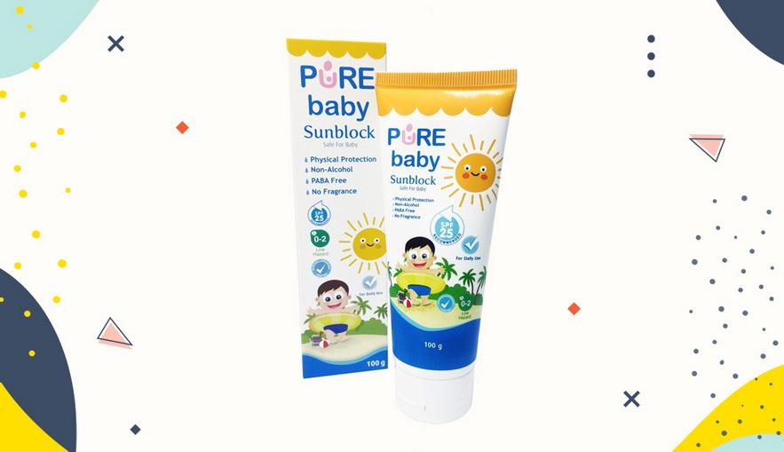 Sunblock untuk anak Pure Baby Sunblock SPF 25