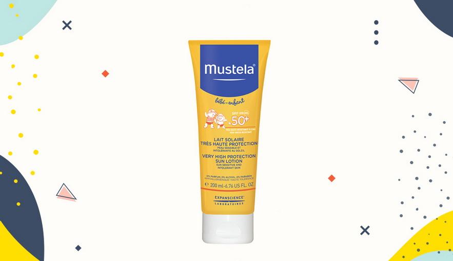 Sunblock untuk anak Mustela High Protection Sun Lotion