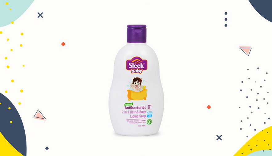 Sabun bayi dan anak Sleek Baby 2in1 Hair and Body Liquid Soap