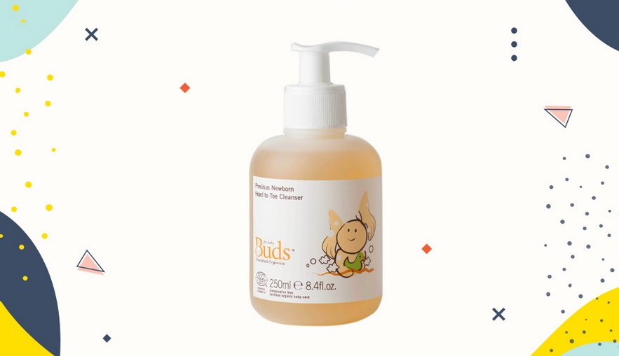 Sabun bayi dan anak Buds Organics Precious Newborn Head to Toe Cleanser
