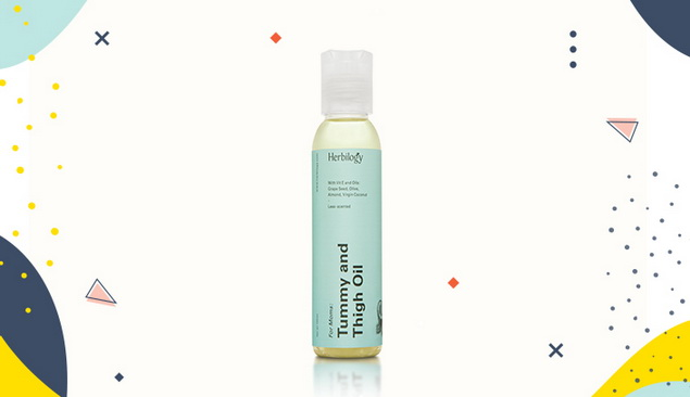 Penghilang Stretch Mark Herbilogy Tummy and Tigh Oil